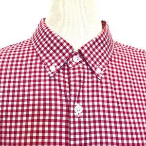 NWOT J. Crew oxford cloth plaid shirt L
